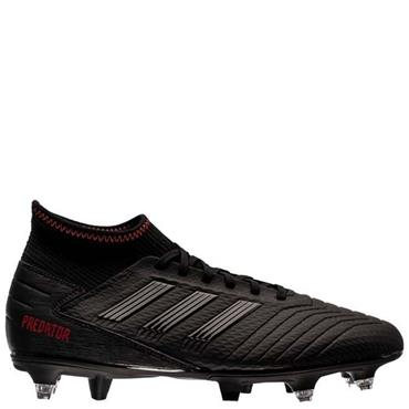Adidas Adults Predator 19.3 SG Football Boots - BLACK