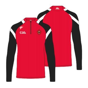 Gaelic Armour Kids Urris GAA Half Zip - Red