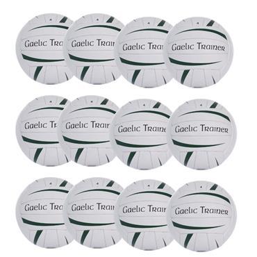 O'Neills Gaelic Trainer Pack of 12 - WHITE