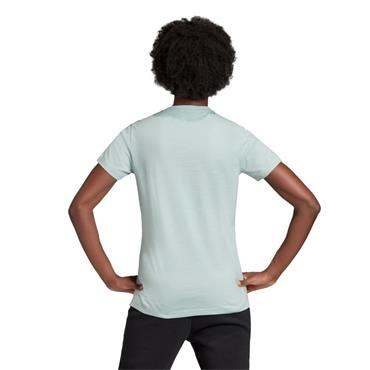 Adidas Women's Badge Of Sport Cotton Tee - Aqua