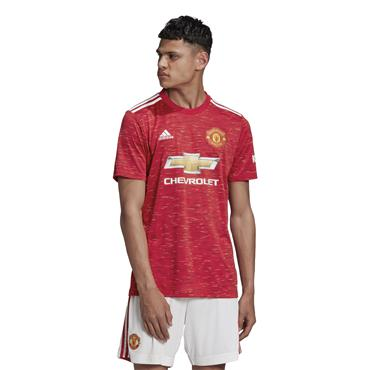 Adidas Adults Manchester United 2020/21 Home Jersey - Red