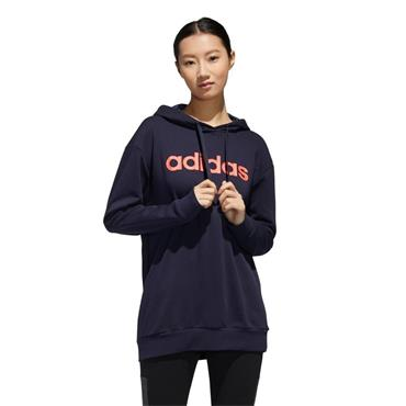Adidas Women's Linear Oversized Hoodie - Navy