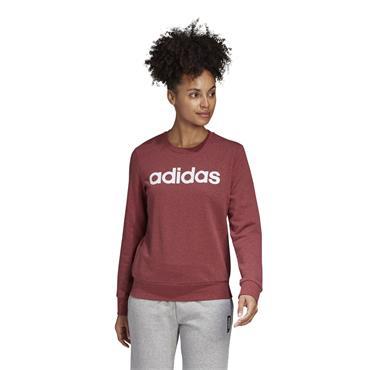 Adidas Womens Essentials Linear Sweatshirt - Red/White