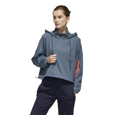 Adidas Womens Activated Tech Windbreaker - Blue