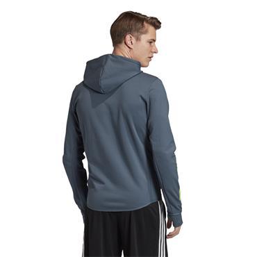 Adidas Mens D2M Motion FZ Hoodie - Blue