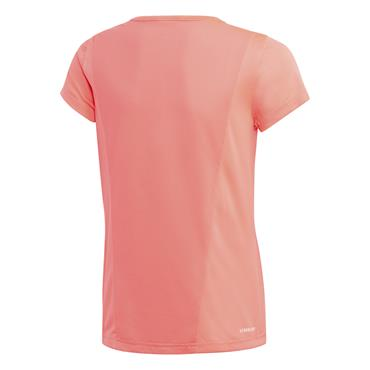 Adidas Girls Linear Logo T-Shirt - Pink