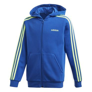 Adidas Boys Three Stripe Full Zip Jacket - Blue
