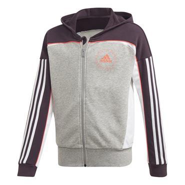 Adidas Girls Bold Full Zip Hoodie - Grey