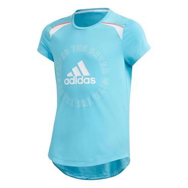Adidas Kid's G.A.R. Bold Tee - Blue