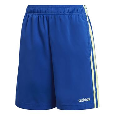 Adidas Boys 3 Stripe Woven Shorts - BLUE