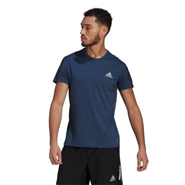 ADIDAS MENS OWN THE RUN T-SHIRT - Navy