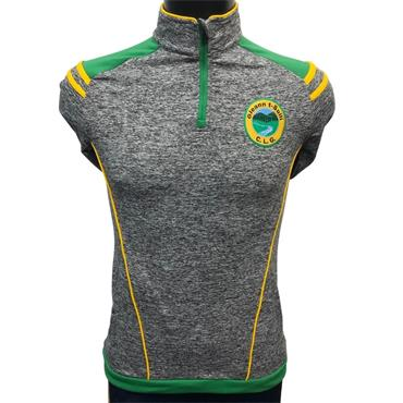 Gaelic Armour Adults Glenswilly Half Zip Top - Green/Amber