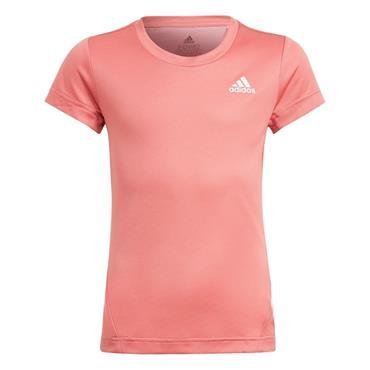 ADIDAS GIRLS GAR 3STRIPE TSHIRT - Pink