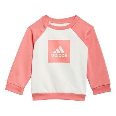 ADIDAS KIDS 3 STRIPE FLEECE TRACKSUIT - Pink