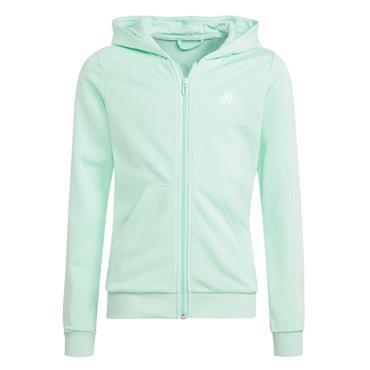 Adidas Girls Linear FZ Top - BLUE