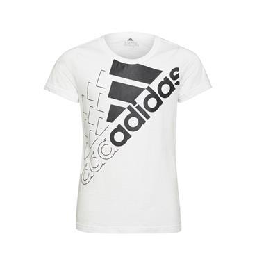 Adidas Girls Logo T-Shirt - WHITE