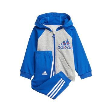Adidas Badge Of Sport Logo Tracksuit - Blue/Grey