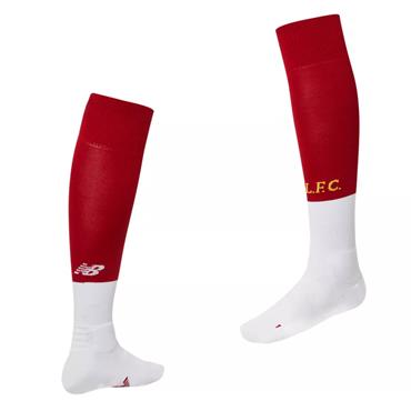 New Balance Kids Liverpool Home Socks 2018/19 - Red/White