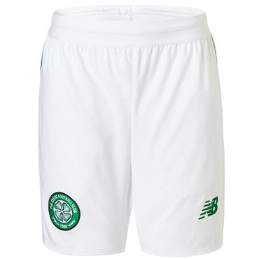 New Balance Kids Celtic Home Shorts 2018/19 - White