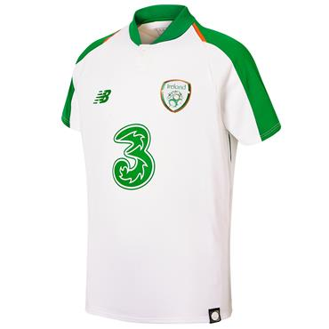 New Balance Kids Ireland FAI Away Jersey 2018/19 - White/Green