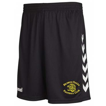 Hummel Adults Kildrum Tigers FC Shorts - BLACK