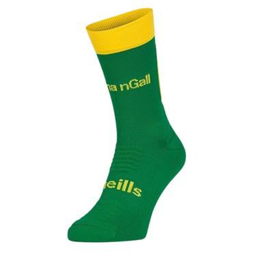 O'NEILLS DONEGAL KOOLITE MID LEG SOCKS - Green/Amber