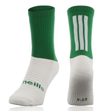 O'Neills Men's Koolite Midi Socks - Green/White