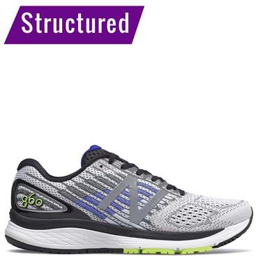 New Balance Mens 860v9 Running Shoe - White/Black