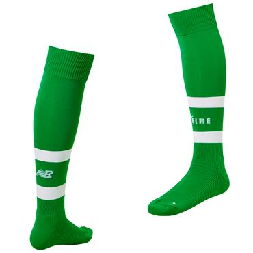 New Balance Mens Ireland FAI Home Socks 2018/19 - Green
