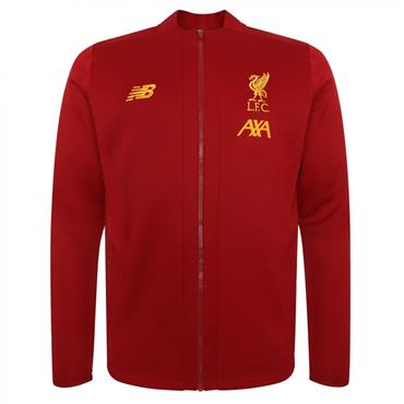 New Balance Adults Liverpool Pre Game Jacket 2019/20 - Red