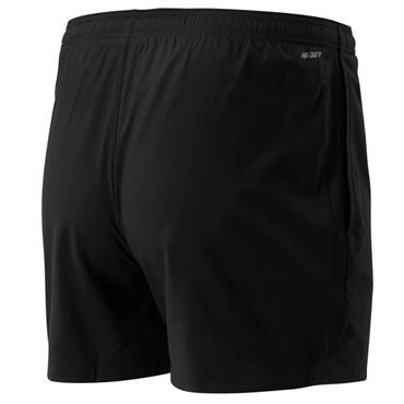 New Balance Mens 5 inch Woven Shorts - BLACK