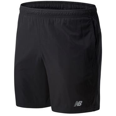 New Balance Mens 7 inch Woven Shorts - BLACK