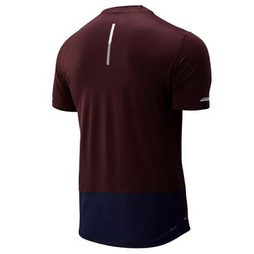 New Balance Mens ICE 2.0 T-Shirt - Burgandy