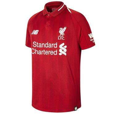 New Balance Adults Liverpool Home Jersey 2018/19 - Red