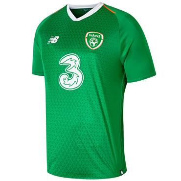 New Balance Adults Ireland FAI Home Jersey 2018/19 - Green