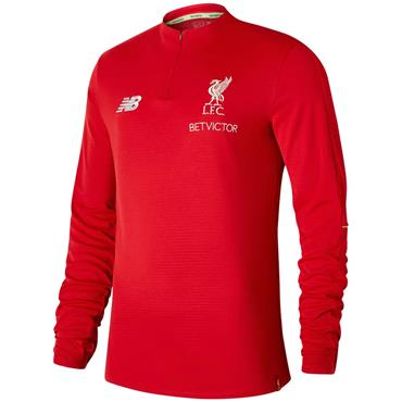 NEW BALANCE MENS LFC MID LAYER TOP - RED