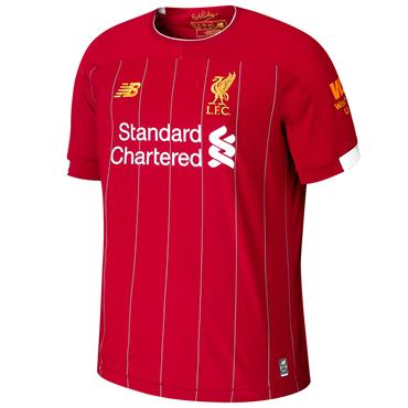 New Balance Adults Liverpool Home Jersey 2019/20 - Red