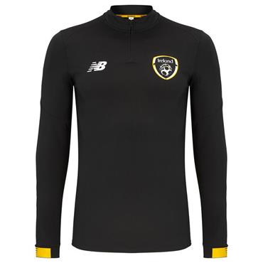New Balance Adults FAI Ireland LS Midlayer Top - BLACK