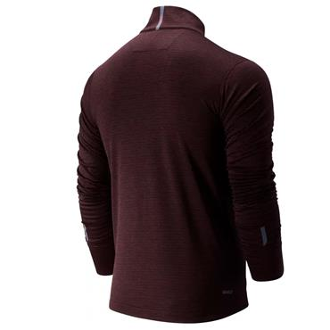New Balance Mens Heatgrid Half Zip - Burgandy