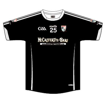 O'Neills Adults Na Rossa GAA Tight Fit Jersey - Black/White