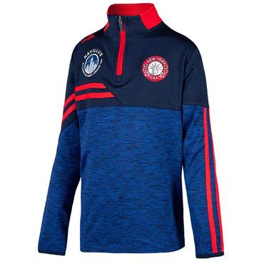 O'Neills Kids New York GAA Nevis 122 Brushed Half Zip - Navy