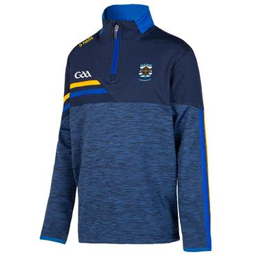 O'Neills Kids NYPD GAA Nevis 122 Brushed Half Zip - Blue