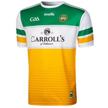 O'Neills Adults Offaly GAA Home Jersey 19/20 - YELLOW MULTI