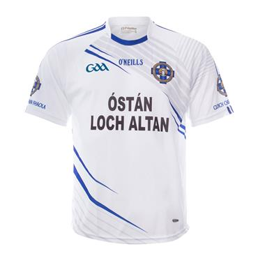 O'Neills Kids Cloughaneely GAA Away Jersey - White/Blue
