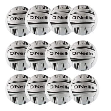 O'Neills Intercounty Football Pack of 12 - WHITE