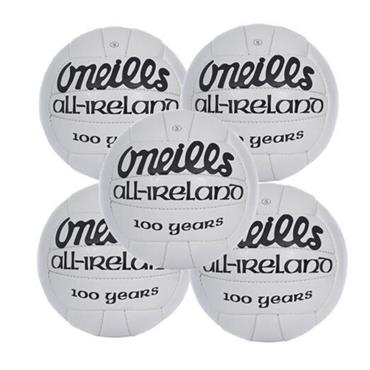 O'Neills All ireland Match Football Pack of 5 - White