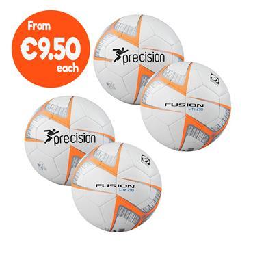 Precision Fusion Lite Football Pack | (Ages U6-U8) | 290G - White/Orange