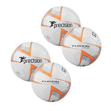 Precision Fusion Lite Football 290G Pack - White/Orange