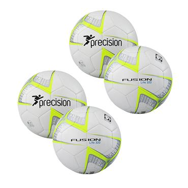PRECISION FUSION LITE FOOTBALL 320G PACK - WHITE/YELLOW