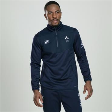 Canterbury Mens IRFU Rugby Quarter Zip Top - Navy